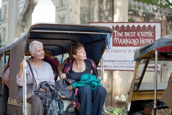 "Judi Dench and Celia Imrie star in ""The Best Exotic Marigold Hotel."""