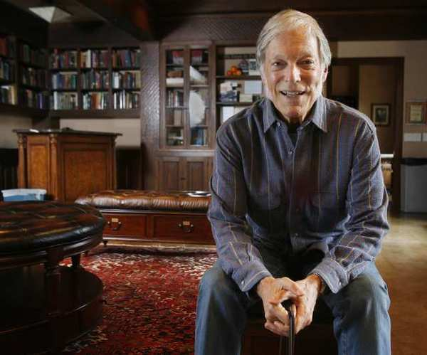"Richard Chamberlain at the Pasadena Playhouse in the library. Chamberlain is playing Dr. Austin Sloper in the play ""The Heiress."""