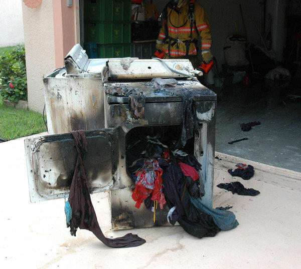 Fire officials are advising against leaving clothing dryers unattended because of the fire risk
