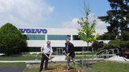 Volvo Construction Equipment broke ground Friday on the first phase of a $100-million expansion to make Shippensburg, Pa., the new Volvo Americas headquarters, generating several hundred jobs and a financial jolt to the local economy.