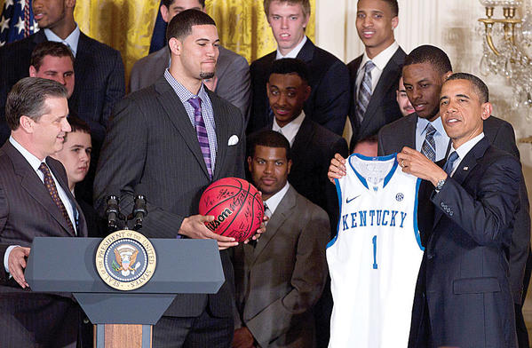President Obama congratulates the 2012 NCAA national champion Kentucky Wildcats on their performance this season.