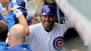 After hitting the Cubs' first pinch-hit homer of the season Friday, Joe Mather gets the start in center field Saturday against the Dodgers.