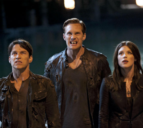 'True Blood' Season 5 pictures: Stephen Moyer, Alexander Skarsgard and Lucy Griffiths as Bill, Eric and Nora