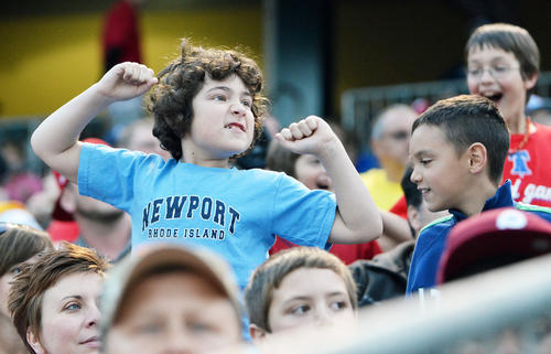 Lehigh Valley IronsPigs fans during a baseball game held at Coca Cola Park in Allentown on Saturday.