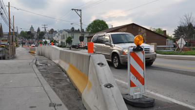 Several Somerset businesses are frustrated by congestion on East Main Street caused by PennDot bridge repairs.