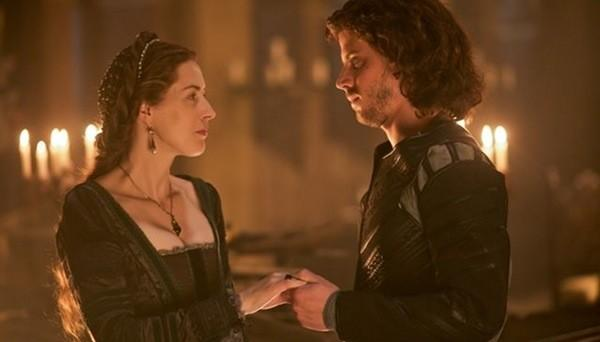 The pairing of Catherina Sforza (Gina McKee) and Cesare Borgia (Francois Arnaud) isn't as sweet as it looks here.
