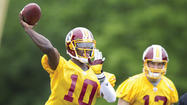 No sense fooling around with a talent like Robert Griffin III. Barely a week after the draft, the Washington Redskins are already proclaiming the Heisman Trophy winner their No. 1 quarterback.