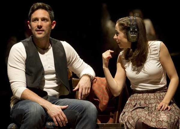 """Steve Kazee, left, and Cristin Milioti are shown in a scene from the musical """"Once"""" in New York."""