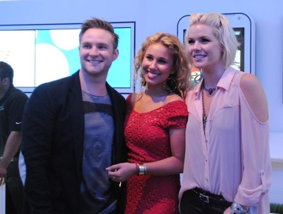 Blake Lewis, Haley Reinhart and Kimberly Caldwell