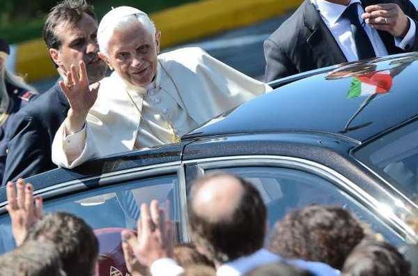 Pope Benedict XVI in Rome earlier this year.