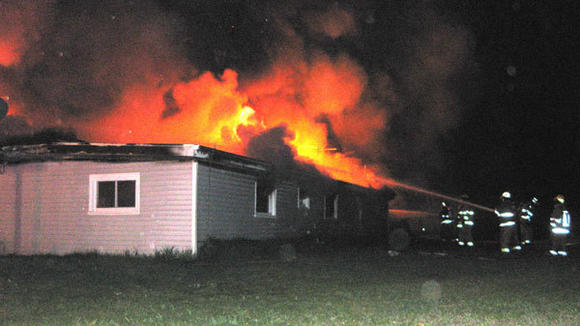 Two families were displaced Saturday evening when fire destroyed a duplex in Vanderbilt.