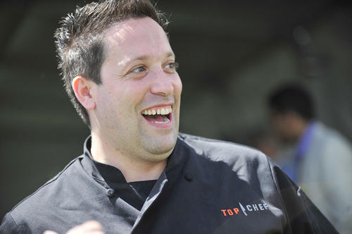 """Top Chef"" all stars runner-up Mike Isabella, of Washington D.C., in the corporate tent area."