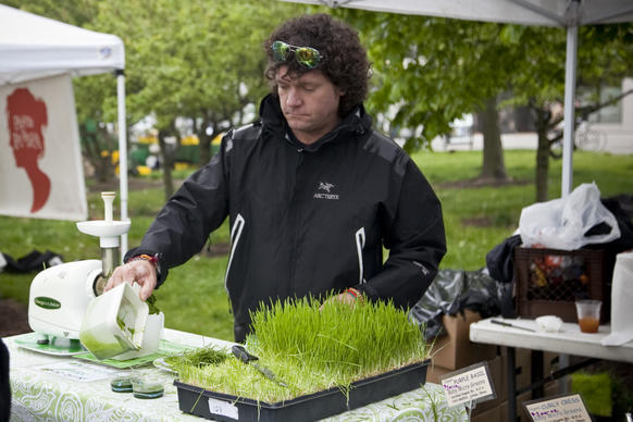 Patrons gathered in Lincoln Park May 5 to celebrate the 2012 season of Green City Market.