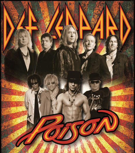 Pop-metal favorites Def Leppard and Poison are poised to play Virginia Beach in August.