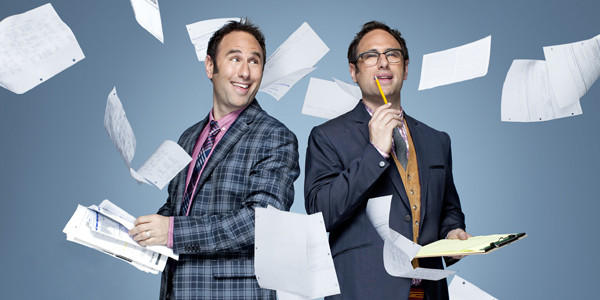 "Randy (left) and Jason Sklar host History Channel's new ""United Stats of America."""