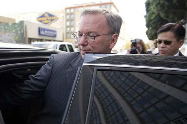 Google Chairman Eric Schmidt leaving a federal court in San Francisco last month.