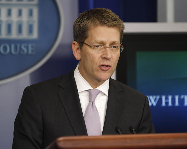 White House Press Secretary Jay Carney speaks during his daily news briefing.