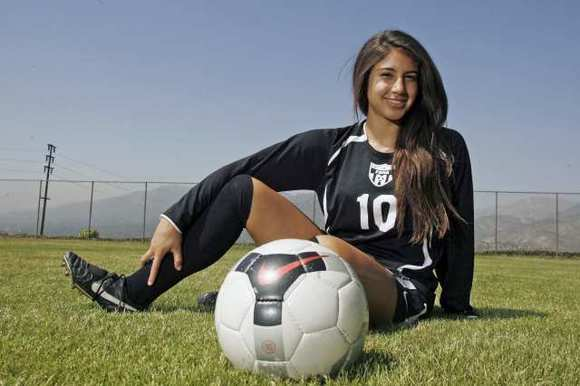 Flintridge Sacred Heart Academy's Breeana Koemans is the 2012 All-Area Girls' Soccer Player of the Year.