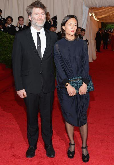2012 Met Costume Institute Gala red carpet arrival pictures: James Murphy and Mandy Coon