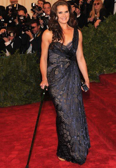 2012 Met Costume Institute Gala red carpet arrival pictures: Brooke Shields