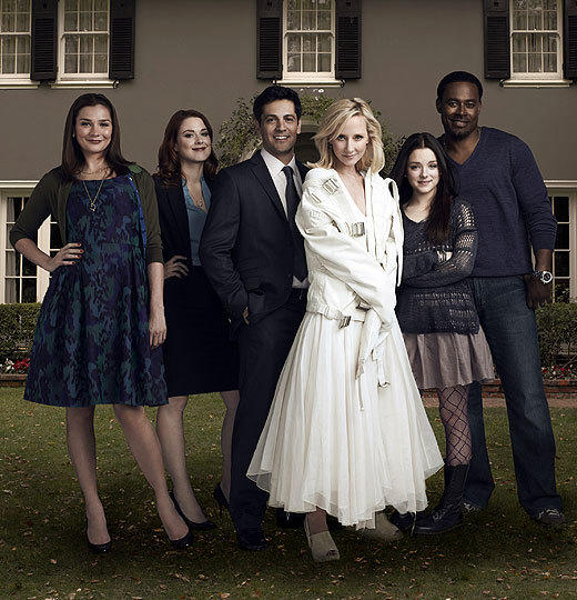 Fall TV 2012: New shows from ABC, CBS, NBC, FOX and The CW: Midseason Comedy  Premise: In the aftermath of an accident, a woman believes shes channeling God, and it throws her friends and family for a loop.  Stars: (from left) Heather Burns (Bored to Death), Alexandra Breckenridge (American Horror Story), Michael Landes (Upstairs Downstairs), Anne Heche (Men in Trees, Hung), Madison Davenport (Shameless), Lamman Rucker (Meet the Browns)  Production team: Created by John Scott Shepherd (The Days). Executive producers Shepherd, Scott Winant (director; Californication), Neal Moritz (The Big C, Fast Five), Vivian Cannon (The Big C)