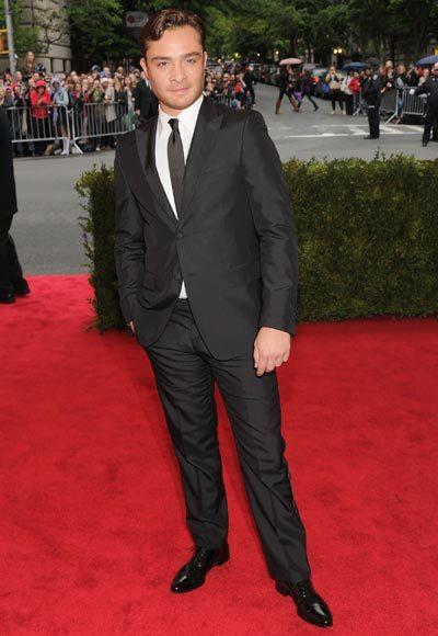 2012 Met Costume Institute Gala red carpet arrival pictures: Ed Westwick