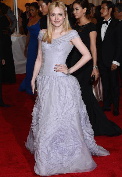 2012 Met Costume Institute Gala red carpet arrival pictures: Dakota Fanning