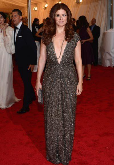 2012 Met Costume Institute Gala red carpet arrival pictures: Debra Messing