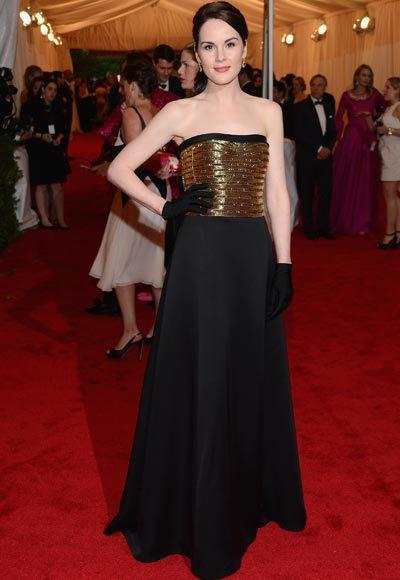 2012 Met Costume Institute Gala red carpet arrival pictures: Michelle Dockery