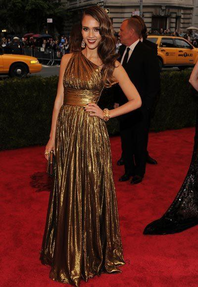 2012 Met Costume Institute Gala red carpet arrival pictures: Jessica Alba