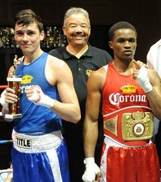 Runner-up Kevin Ridings (left) and winner Alex Martin at last month's Chicago Golden Gloves. (