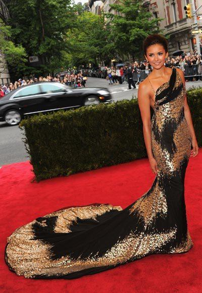 2012 Met Costume Institute Gala red carpet arrival pictures: Nina Dobrev