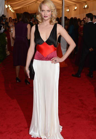 2012 Met Costume Institute Gala red carpet arrival pictures: Amber Valetta