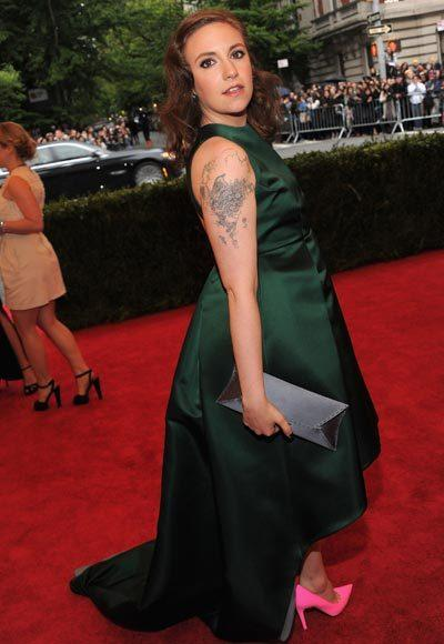 2012 Met Costume Institute Gala red carpet arrival pictures: Lena Dunham