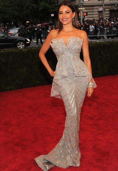 2012 Met Costume Institute Gala red carpet arrival pictures: Sofia Vergara
