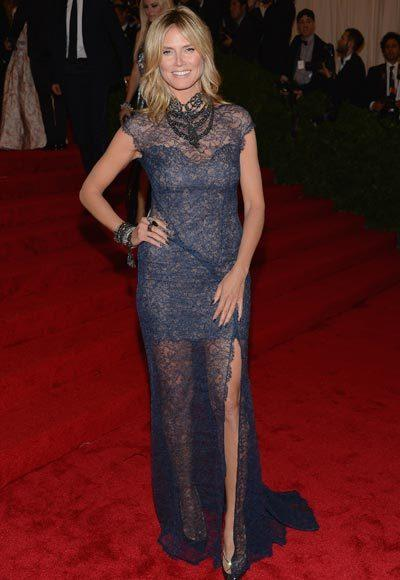 2012 Met Costume Institute Gala red carpet arrival pictures: Heidi Klum