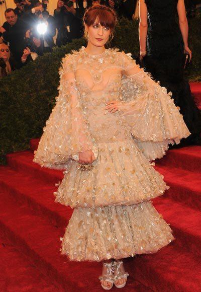 2012 Met Costume Institute Gala red carpet arrival pictures: Florence Welch