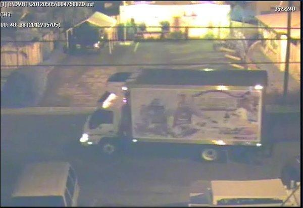 The theft of a Jaxsons Ice Cream refrigerated truck is recorded on surveillance tape and detectives hope it will lead them to the thief.