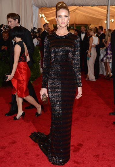 2012 Met Costume Institute Gala red carpet arrival pictures: Rosie Huntington-Whiteley