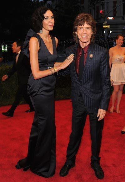 2012 Met Costume Institute Gala red carpet arrival pictures: LWren Scott and Mick Jagger