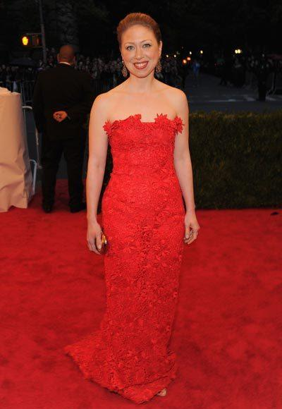 2012 Met Costume Institute Gala red carpet arrival pictures: Chelsea Clinton