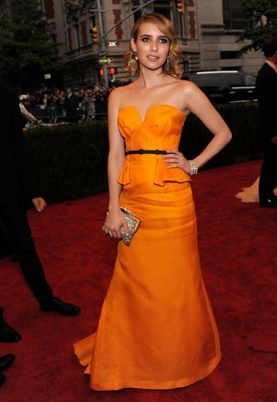 2012 Met Costume Institute Gala red carpet arrival pictures: Emma Roberts