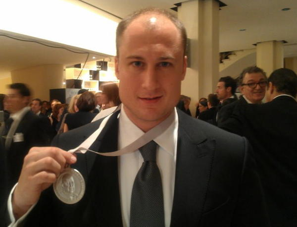 Dave Beran, chef of Next, wins the 2012 James Beard Foundation Award for Best New Restaurant.