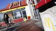Diners at McDonald's Corp. in the United States stayed away from some higher-priced advertised items like Angus burgers and premium chicken sandwiches in April, amid a tepid U.S. recovery.