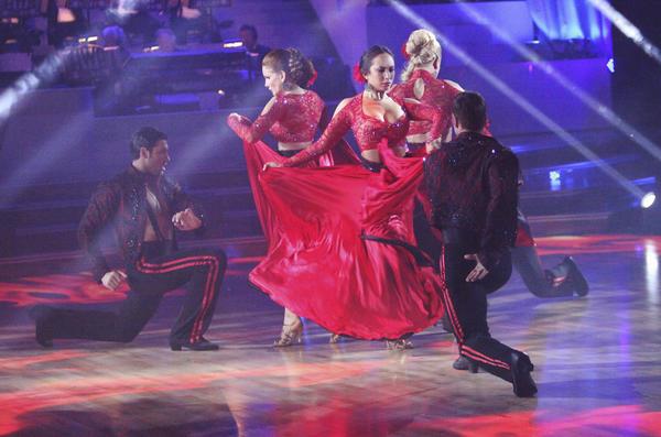 "Team Paso's Melissa & Maks, William & Cheryl, and Donald & Peta battled Team Tango's Katherine & Mark, Maria & Derek, Roshon & Chelsie, Jaleel & Kym, on last week's ""Dancing with the Stars."""