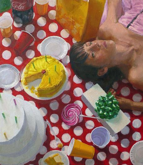 """Indulgence II,"" by Williamsburg artist Nicole McCormick Santiago, is one of the works on view in her solo show at This Century Gallery in Williamsburg."