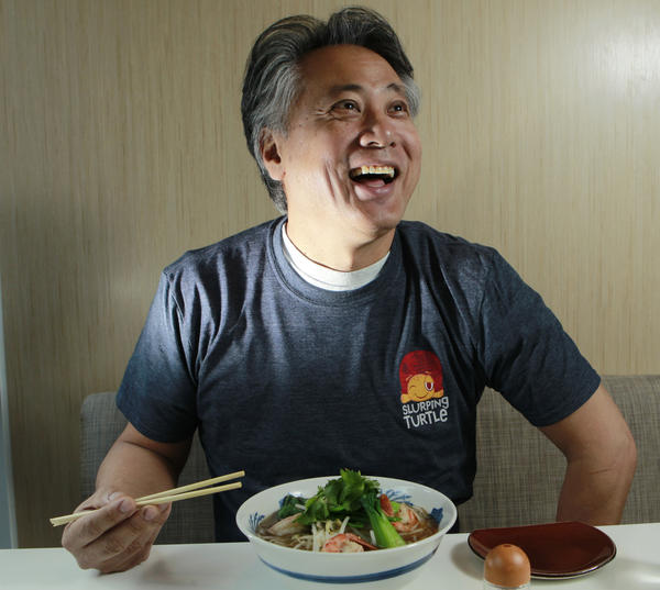 "Takashi Yagihashi, the mastermind behind the River North restaurant Slurping Turtle, appeared on ""Top Chef: Texas"" and also completed on ""Iron Chef"" in April 2012."
