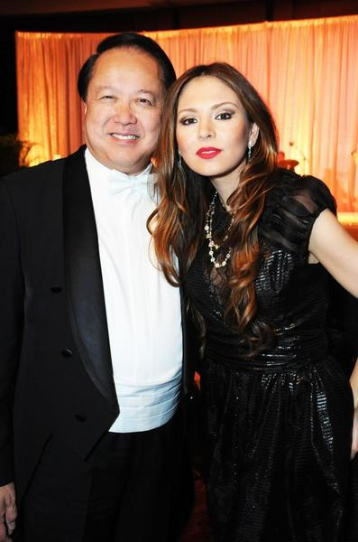"Jahja Ling, left, and Lola Astanova at the Kravis Center for the Performing Arts, where they celebrated the end of the Palm Beach Symphony's successful 38th season. The event included a VIP viewing of the concert ""Redefining the Romantics,"" cocktail hour and gala."