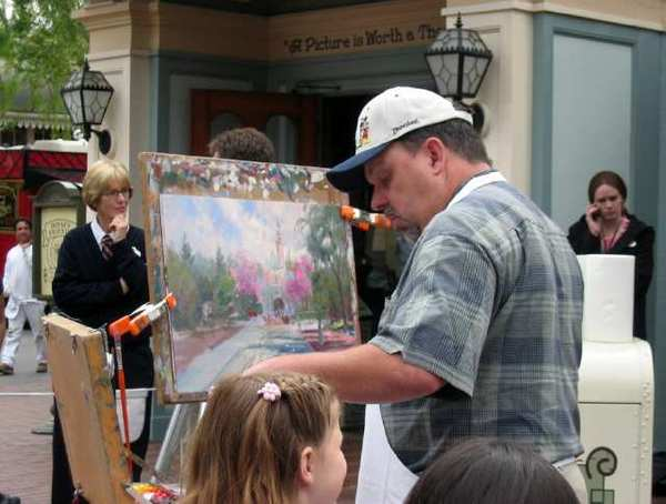Thomas Kinkade at Disneyland in 2004.