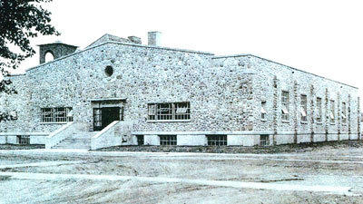 The gymnasium at the Otsego County Community Center in 1936. Photo courtesy of Otsego County Historical Society